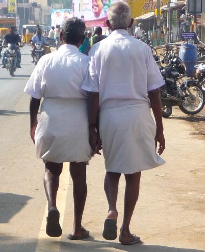 Old Men Holding Hands