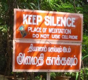 Sign at Skandashram