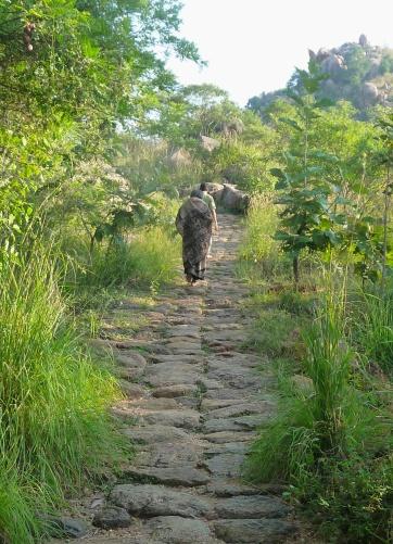 Walking Up to Skandashram