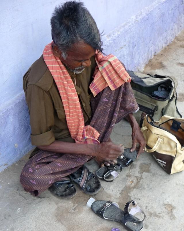 Humble Street Shoe Repair Man, Tiruvannamalai, South India