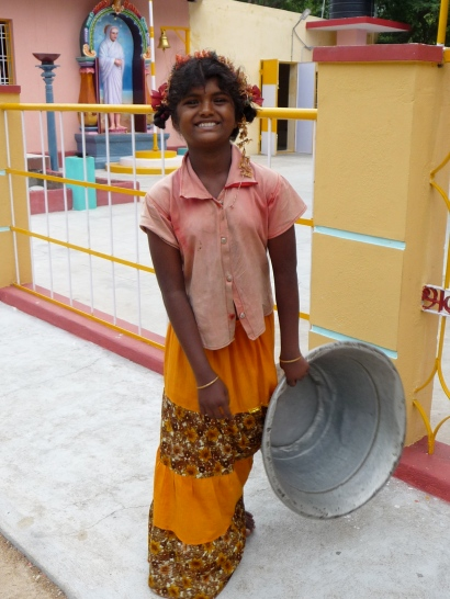 Smiling Girl in Tiruvannamalai, South India