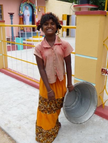 Smiling Girl in Tiruvannamalai, South India