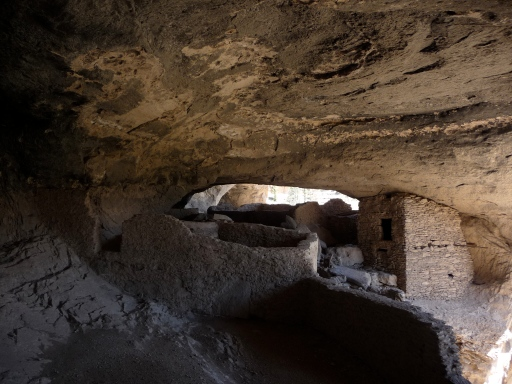 Remains of Ancient Dwellings Inside Cliff Caves