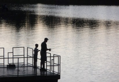 Father and Son - Fishing Lesson