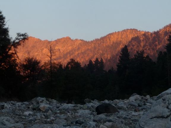 Westward glow, Forest Falls, CA