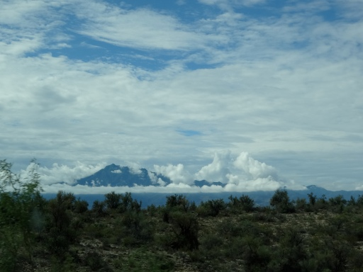 Circle of Clouds around a Mountain near Globe, Arizona